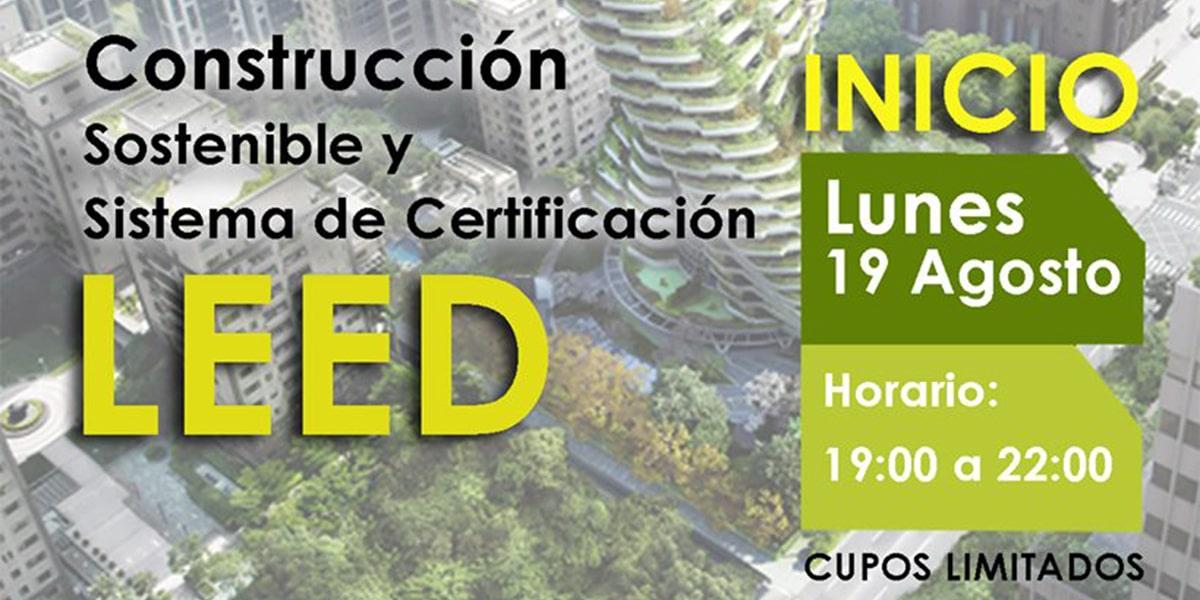 Diplomado en Construcción Sostenible y Sistema de Certificación Leed