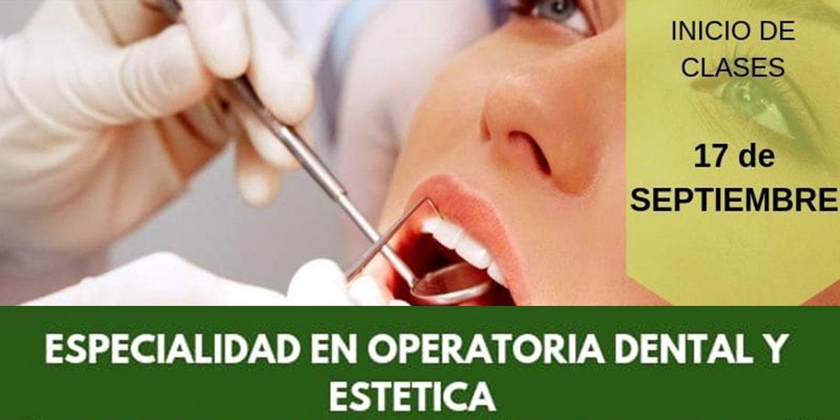 Especialidad en Operatoria Dental y Estética