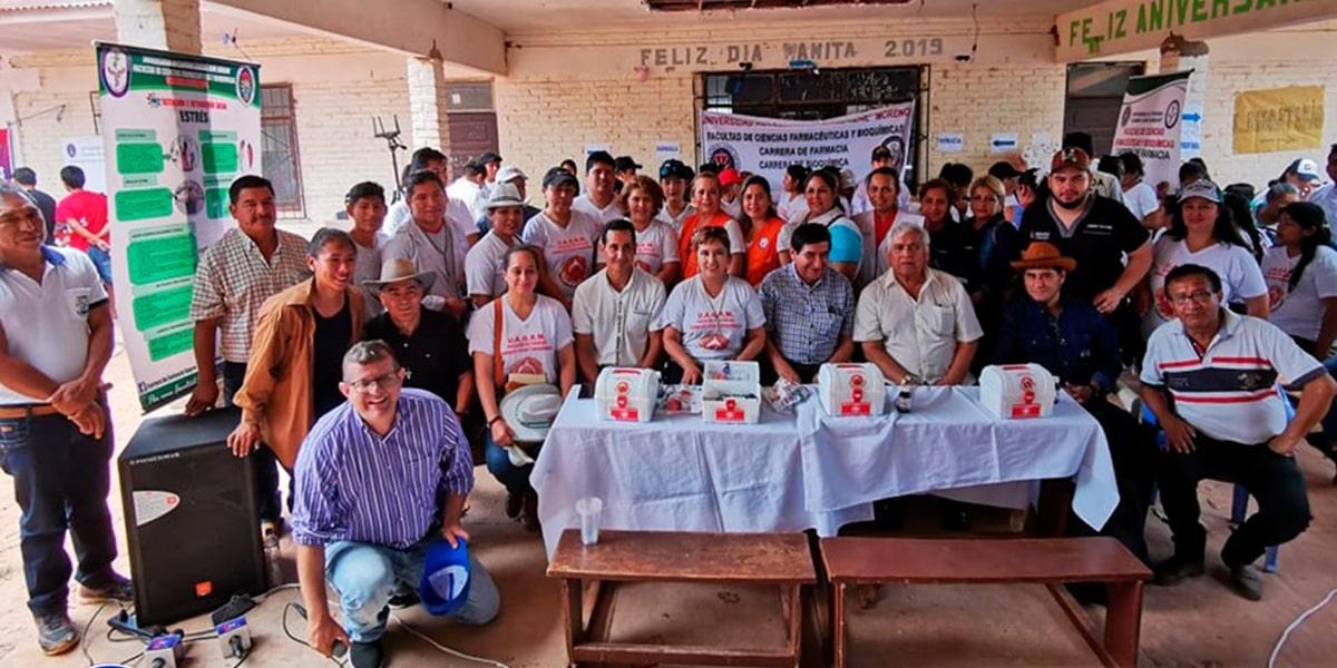 La ayuda a la Chiquitania llegó de la mano de la Universidad Autónoma Gabriel René Moreno encabezada por el Rector, Vicerrector, Decanos, Jefes de Carrera, Docentes, Estudiantes y Administrativos.