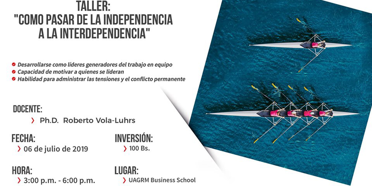 Taller Cómo Pasar de la Independencia a la Interdependencia