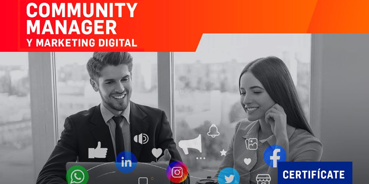 Certifícate como Community Manager y Marketing Digital