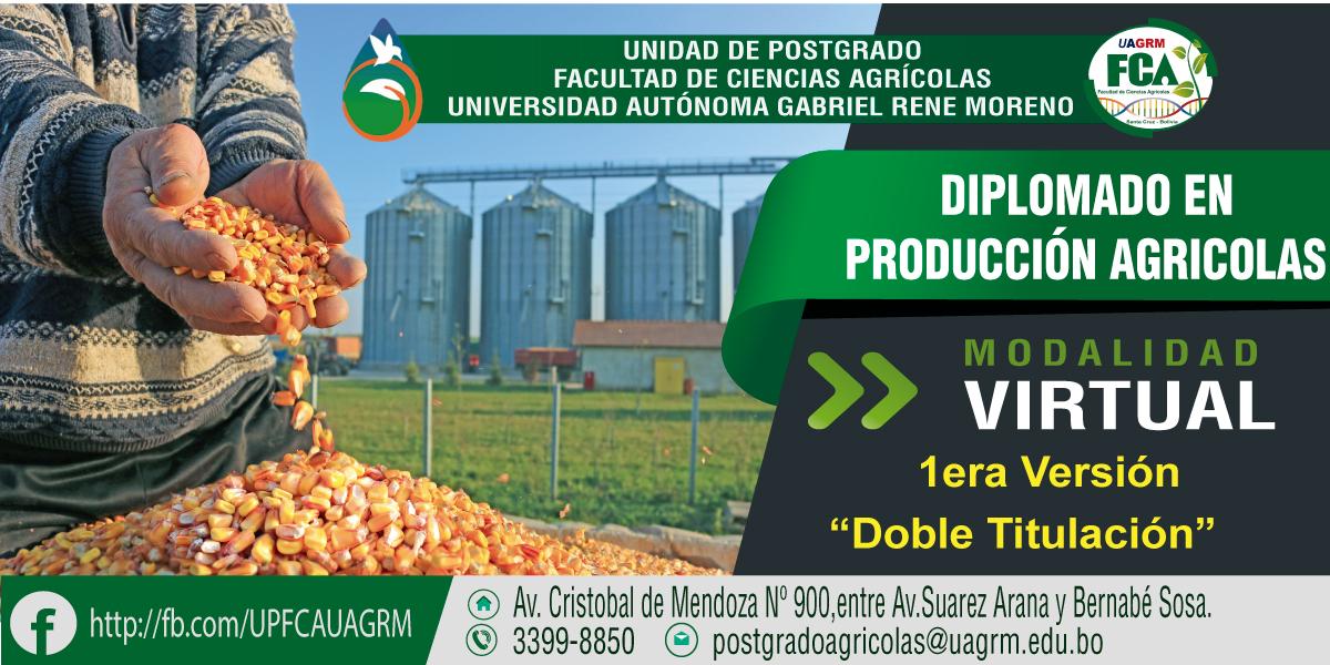 Apertura Diplomado Virtual en Producción Agrícola