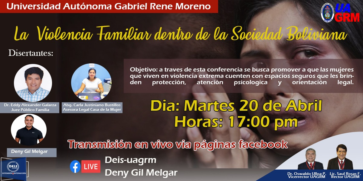 Conferencia: La violencia familiar dentro de la sociedad Boliviana