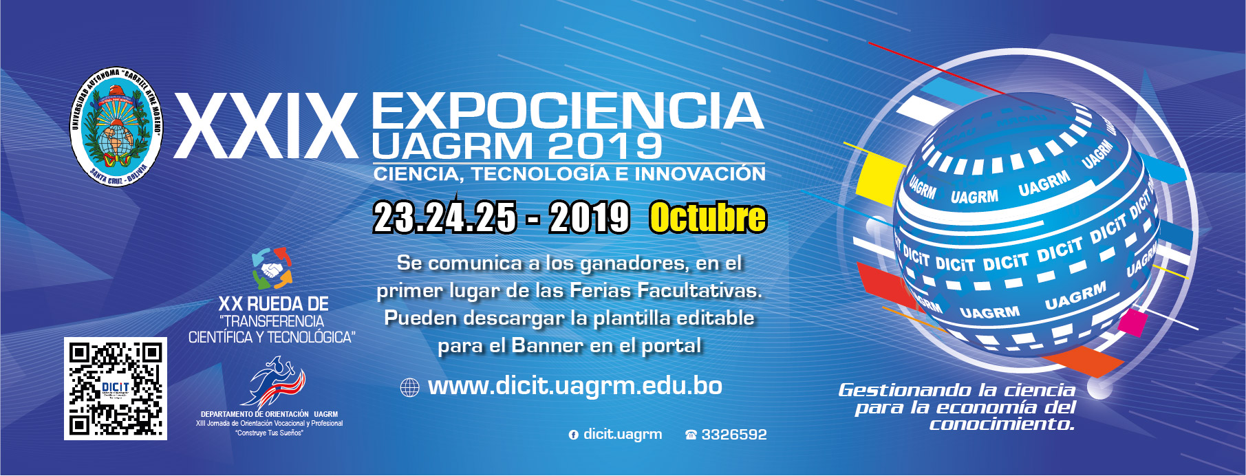 Descargar plantilla sólo PARTICIPANTES GANADORES para la FERIA XXIX EXPOCIENCIA UAGRM 2019