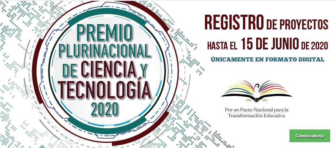 CONVOCATORIA: PREMIO PLURINACIONAL DE CIENCIA Y TECNOLOGÍA – 2020