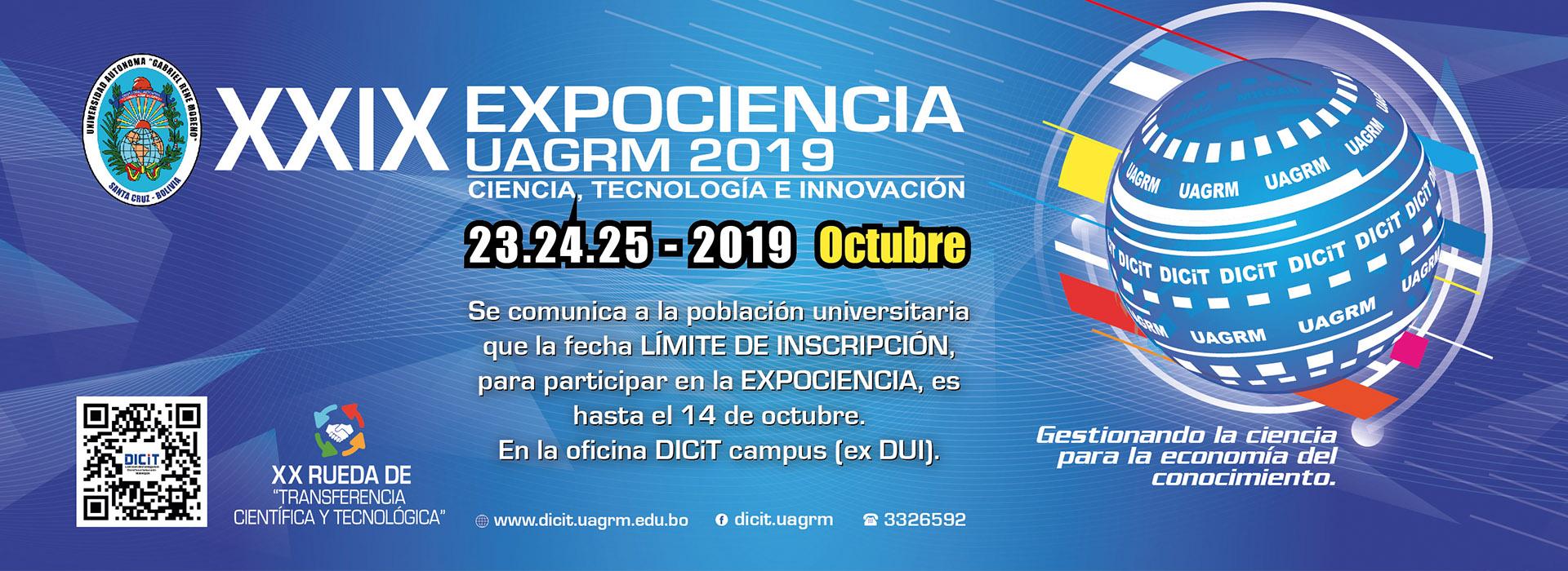 Limite de inscripción hasta el 14 de octubre DICiT - UAGRM