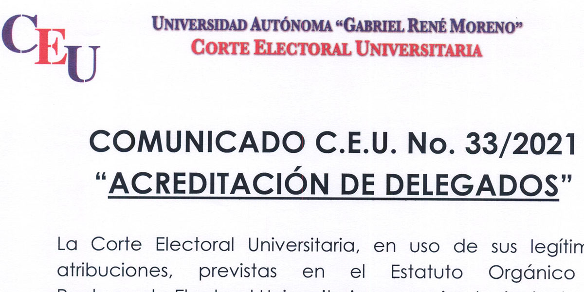 Nº 33/2021 A LA COMUNIDAD UNIVERSITARIA